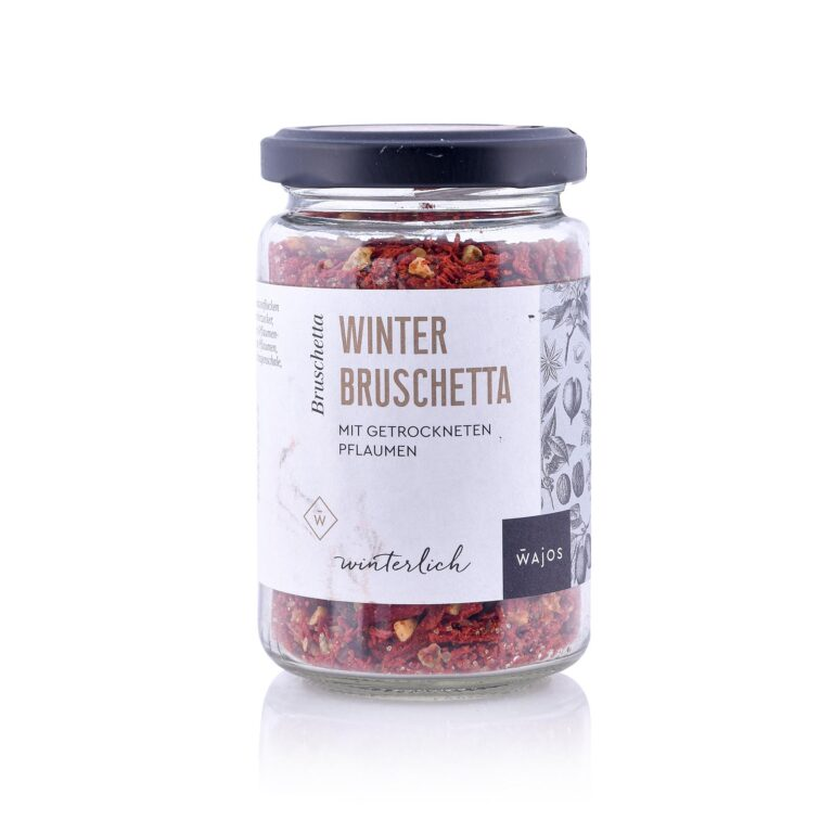 Winter Bruschetta mit getrockneten Pflaumen - Cestino di Carmen
