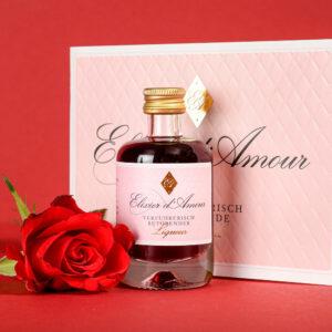 Elixier d' Amour Liqueur & Cocktailheft 40ml Cestino di Carmen