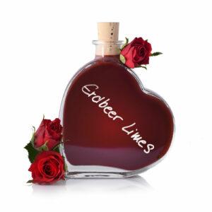 Erdbeeren Limes in der Herzflasche - Cestino di Carmen