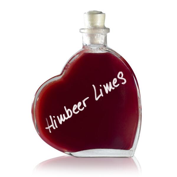 Himberrlimes in Herzflasche